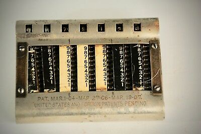 Antique Gem Adding Machine, Pocket Calculator, 1904 - 1907 (PARTS?)