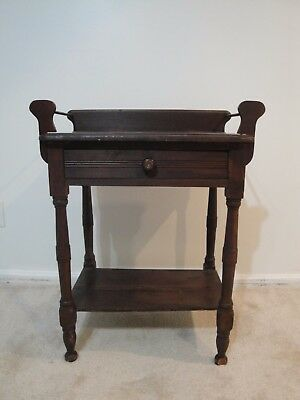 Vintage, Antique Wash stand, Commode, one drawer, one shelf, towel rack