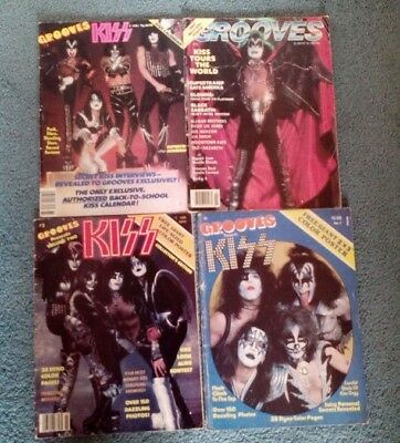 4 x Kiss Grooves Magazine USA Vintage 1978/9 including issue 1