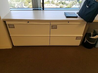 Knoll Calibre 2-drawer Lateral File/ File Cabinet WHITE