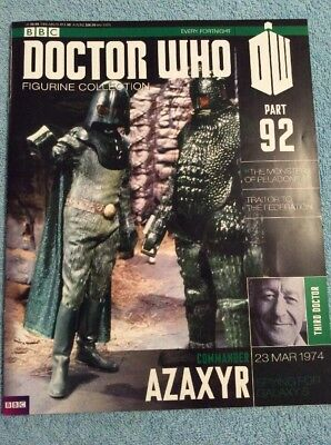 Doctor Who Figurine Collection 92 Commander Azaxyr Dr Who Magazine Only