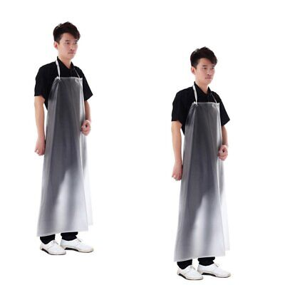 2 Pack Waterproof Clear PVC Apron For Kitchen Housework Restaurant Butcher Clean