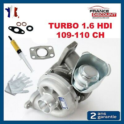 TURBO neuf PEUGEOT CITROEN 1.6 HDI 109 - 110 ch 206 207 307 308 C3 C4 PICASSO