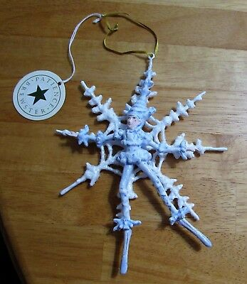 "NWOB Dept 56 PATIENCE BREWSTER  ""Snowflake Fairy""  Christmas Ornament"