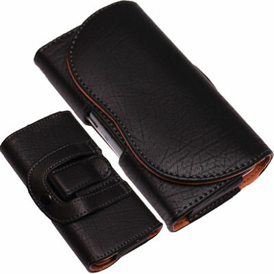 Belt Clip Loop Holster Case Universal PU-Leather Pouch Holder for Mobile Phones