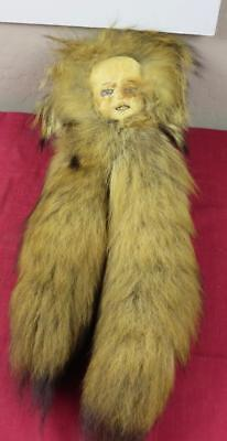 Vintage Rare c.1920s Inuit Fur Doll from Inuvik, Northwest Territories Canada