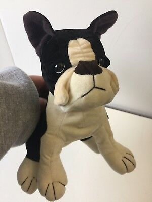 Small Boston Terrier Stuffed Velvet,part Of The 3 Pieces