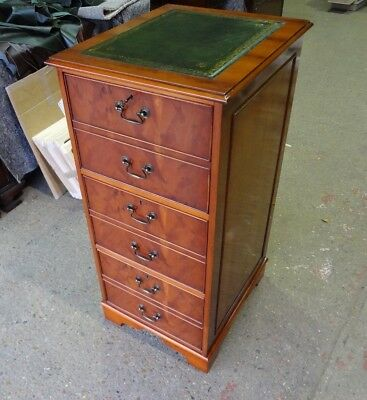 Stunningly Restored 3 Draw Yew Wood  Reproduction Antique Style Filing Cabinet