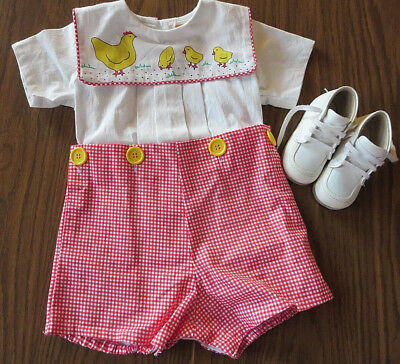 Vintage Baby Cotton Romper NEW!