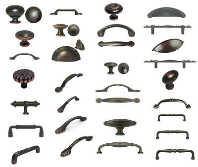 Oil Rubbed Bronze Knobs Pulls Kitchen Cabinet Handles Hardware Closet Vanity