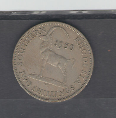Coins  Southern Rhodesia  1950 2 Shillings