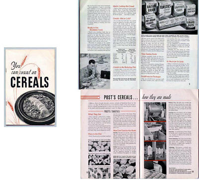 General Foods Post 1948 Cereal Book Booklet Recipes How To