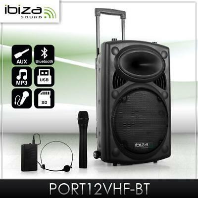 """[B-Ware] Mobile Dj Pa Musik Anlage Bluetooth Usb Sd Mp3 Player 12"""" Subwoofer"""