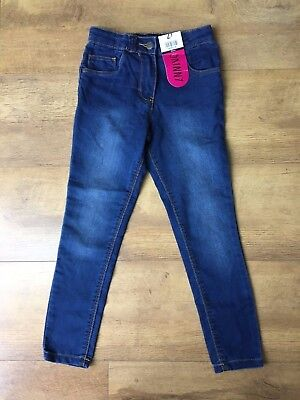 STRETCH JEANS / JEGGINGS Blue Girls Skinny Leg 6-7 Years / 116-122cm - NEW