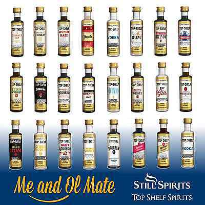 Still Spirits Top Shelf Aussie Gold Rum Essences Home Brew Spirit Making-10 Pack