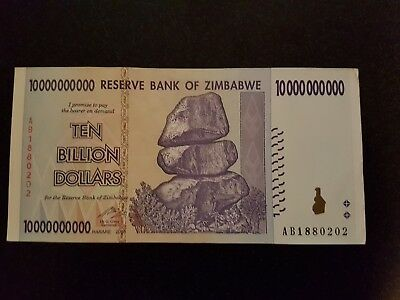 ZIMBABWE 10 Billion Dollars Banknote World Money Currency Note Bill