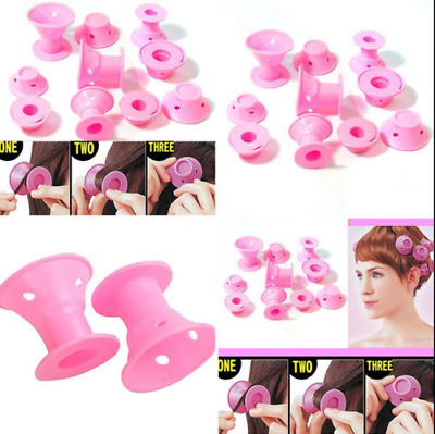 10Pcs Soft Hair DIY Roll Style Roller Hair Curler Styling Care Tool Set Great