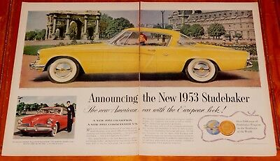 1953 Studebaker Starliner Coupe Cool Large Ad - Vintage 50S American Classic Car