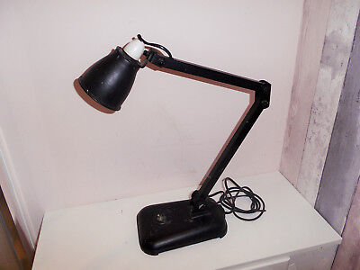 Rare Early 20Th Century Memlite Desk Lamp Iron Based Machinists Industrial Lamp