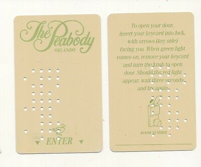 THE PEABODY-----diff color front and back----Orlando,FL---Room key--K-11