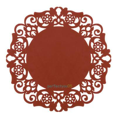 Hollow Flower Silicone Pad Coaster Anti Skid Heat Insulation Cup Mat Coffee