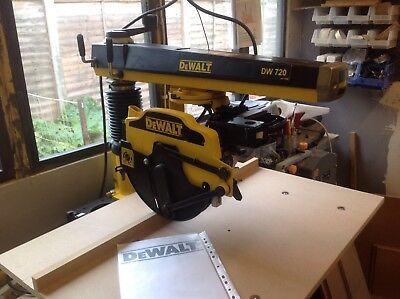 Dewalt Radial Arm Saw Dw720 Superb Condition New Table Top And Blade Fitted