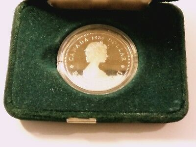 1984 Canada Commemorate Dollar with case