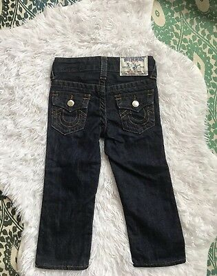 True Religion Toddler Jeans 2t Adjustable Waist Dark wash
