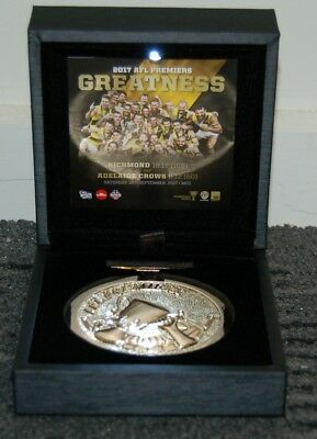 Richmond 2017 Afl Premiers Official Boxed Medallion Cotchin Martin Rance