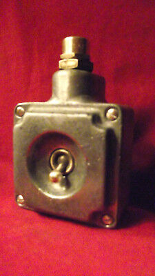 """Vintage Industrial Light Switch """"Walsall"""" Cast Iron Galvanized 1 One Gang"""