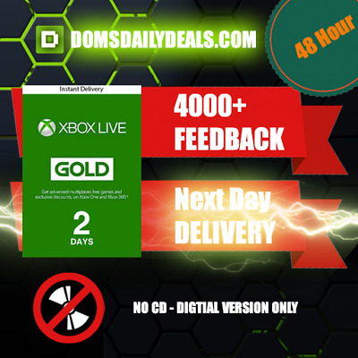 Xbox Live 48 Hours Trial 2 Days Instant Delivery