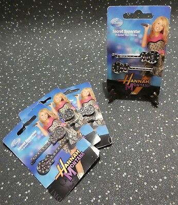Hannah Montana Disney Secret Superstar 2 Guitar Hair Slides