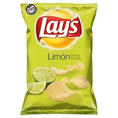 New Sealed  Lay's Limon Flavored Potato Chips 7.75 Oz Free World Wide Shipping