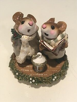 Wee Forest Folk, Carolers with lantern, SPECIAL COLOR!!