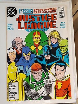 Justice League #1, 1st app. Maxwell Lord