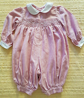 Vintage Baby's Smocked Romper ~ Perfect For Collectors, Reborn Dolls, Bears
