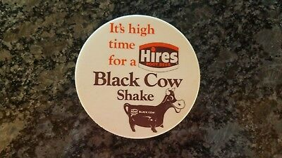 It's High Time Black Cow Shake Hires Button Pin Pinback Badge Vintage Root Beer