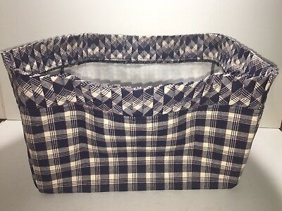 Longaberger~ Plaid Fabric Liner (ONLY) for Large Basket See Pictures For Sz Info