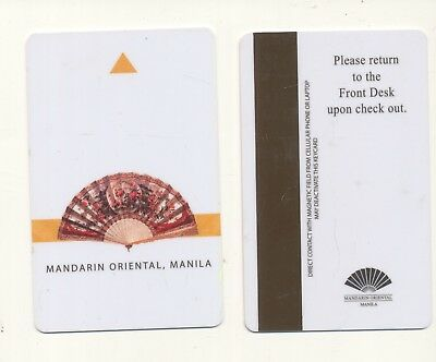 MANDARIN ORIENTAL--diff color frt and back--Manila,Philippines--Room key--K-18