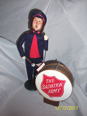 1996 Byers Choice Caroler Salvation Army Man w/Drum Excellent Condition w/Tag