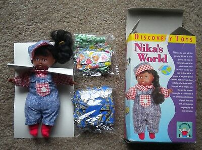 Discovery Toys Nika's World African American Doll 1997 Africa & Jamaica Outfits