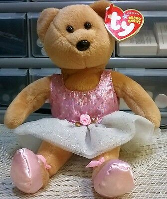 Ty Beanie Babies Prima Stuffed Bear Ballerina With Tags April 28 2005 Pink