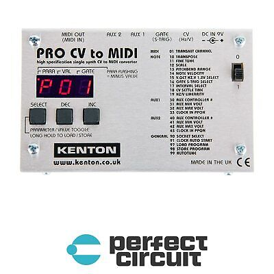 Kenton Pro CV to MIDI Eurorack Modular CONVERTER - NEW - PERFECT CIRCUIT