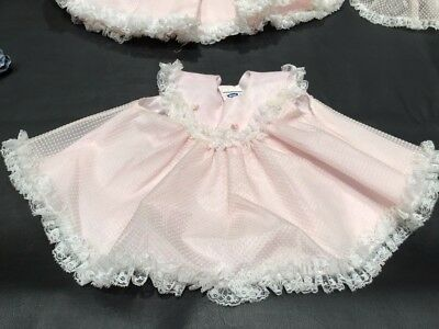 PINK BABY OUTFIT SET SIZE S VINTAGE 1970s