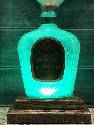 Crown Royal Apple Whisky LED 16 Color Remote    Bar Light Man Cave Christmas Gif