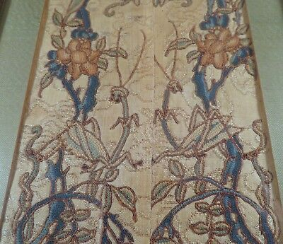 A+ Qing Dynasty Forbidden Seed Stitch Embroidered Silk Tapestry Praying Mantis