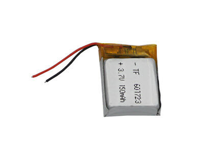 3.7V 150 mAh Polymer Li battery For bluetooth headset glasses Sat Nav pen 601723