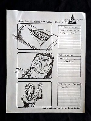"""SeaQuest 2032 Hand Drawn Production """"SIAMESE DREAM"""" Storyboard Page 5 of 8  #MS"""