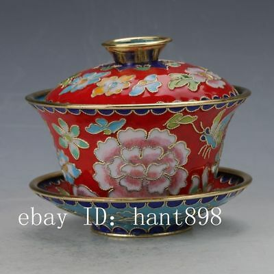 Chinese Cloisonne painted Flower Pots