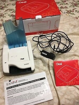 New Panini Ideal I:deal Check Reader Banking Bank Deposit Capture Scanner Usb